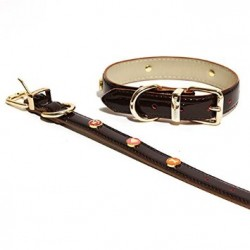 collier cuir maron Rosewood