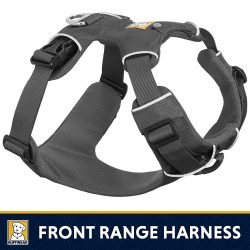 harnais Ruffwear anti-traction noir